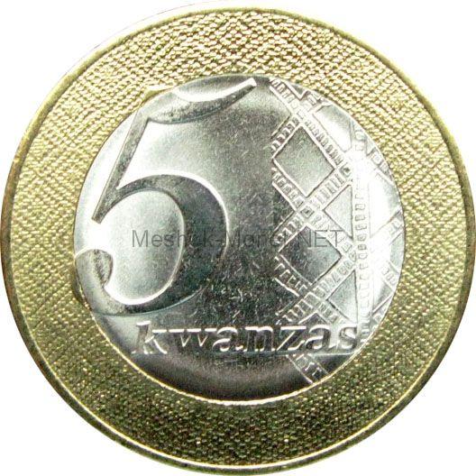 Ангола 5 кванза 2012 г.