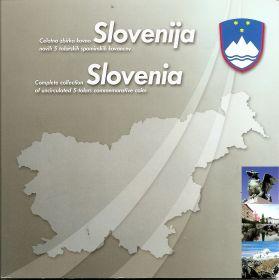 Набор монет  5 толаров Словения 1993-2000 гг.в картонном буклете