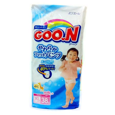GOON  Трусики Big (12-20 кг), 38 шт/уп для девочек