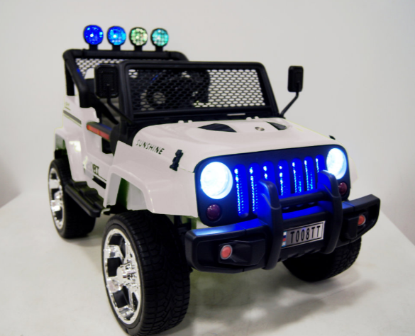 Детский электромобиль River Toys Jeep T888TT белый