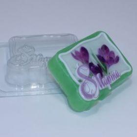Форма для мыла 8 Марта/Прямоугольник под водорастворимую бумагу
