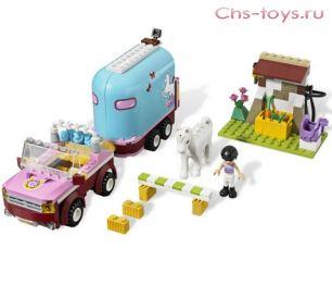 Конструктор Lari Подружки Эмма и трейлер для её лошадки 10161 (3186) 217 дет