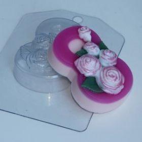Форма для мыла 8 Марта/Розы по диагонали