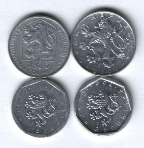 Набор монет Чехия 1976-2003 г. 4 шт.