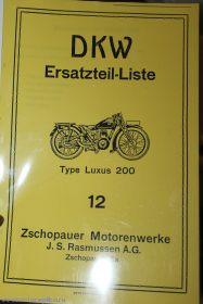 Каталог з/ч DKW Luxus 200