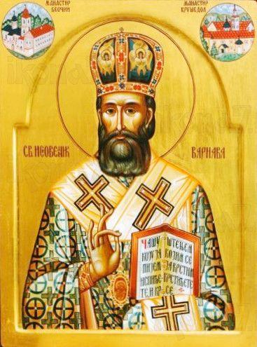 Икона Варнава Хвостанский (рукописная)