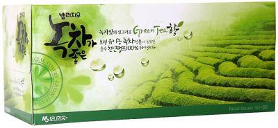 Двухслойные салфетки для лица с экстрактом зеленого чая Manuka Manuka 150 шт