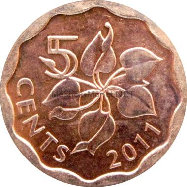 Свазиленд 5 центов 2011 г.