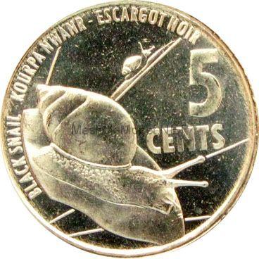 Сейшелы 5 центов 2016 г.