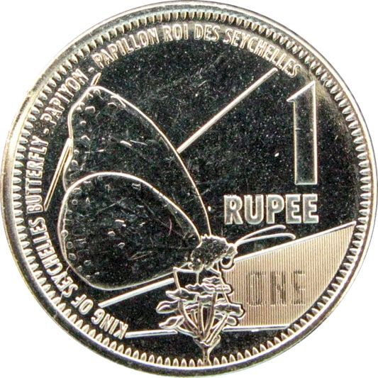 Сейшелы 1 рупия 2016 г.