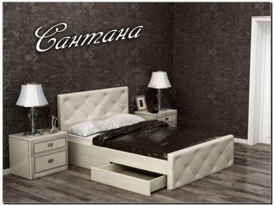 Кровать Сантана мягкая