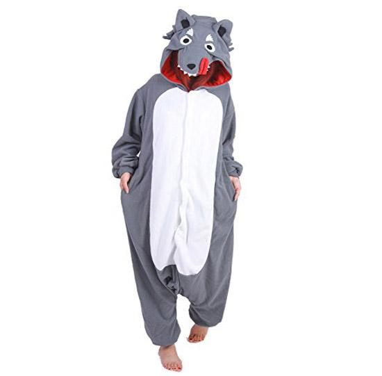 Пижама Кигуруми Серый Волк Премиум