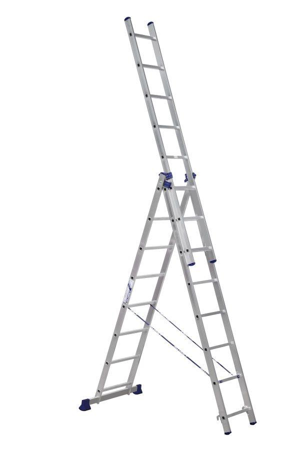 Лестница - стремянка  3-х секц. 3*8 (3х2,24 /5,04 /3,63 м 10,7кг) алюм