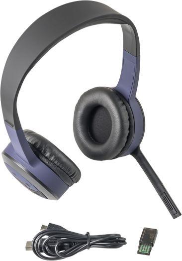Мониторные наушники беспроводные с микрофоном Defender FreeMotion B085 фиолетовый