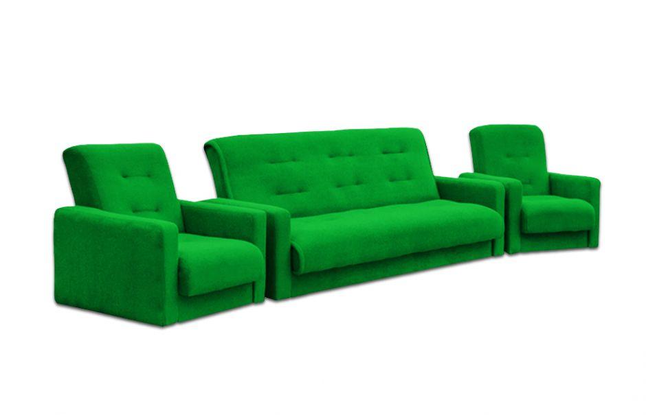 """Комплект диван и два кресла """"Милан"""" зеленый"""