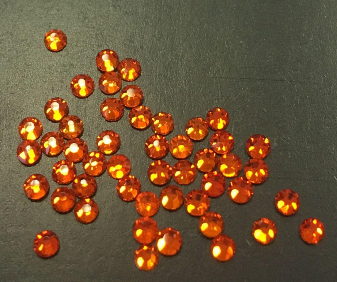 Стразы SS5 стекло плоские (оранжевые) уп/50шт