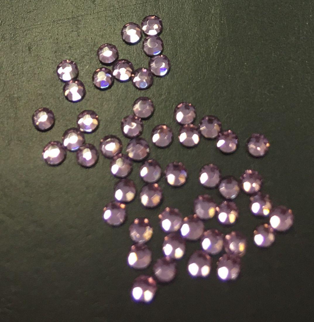 Стразы SS5 стекло плоские (светло-сиренев) уп/50шт