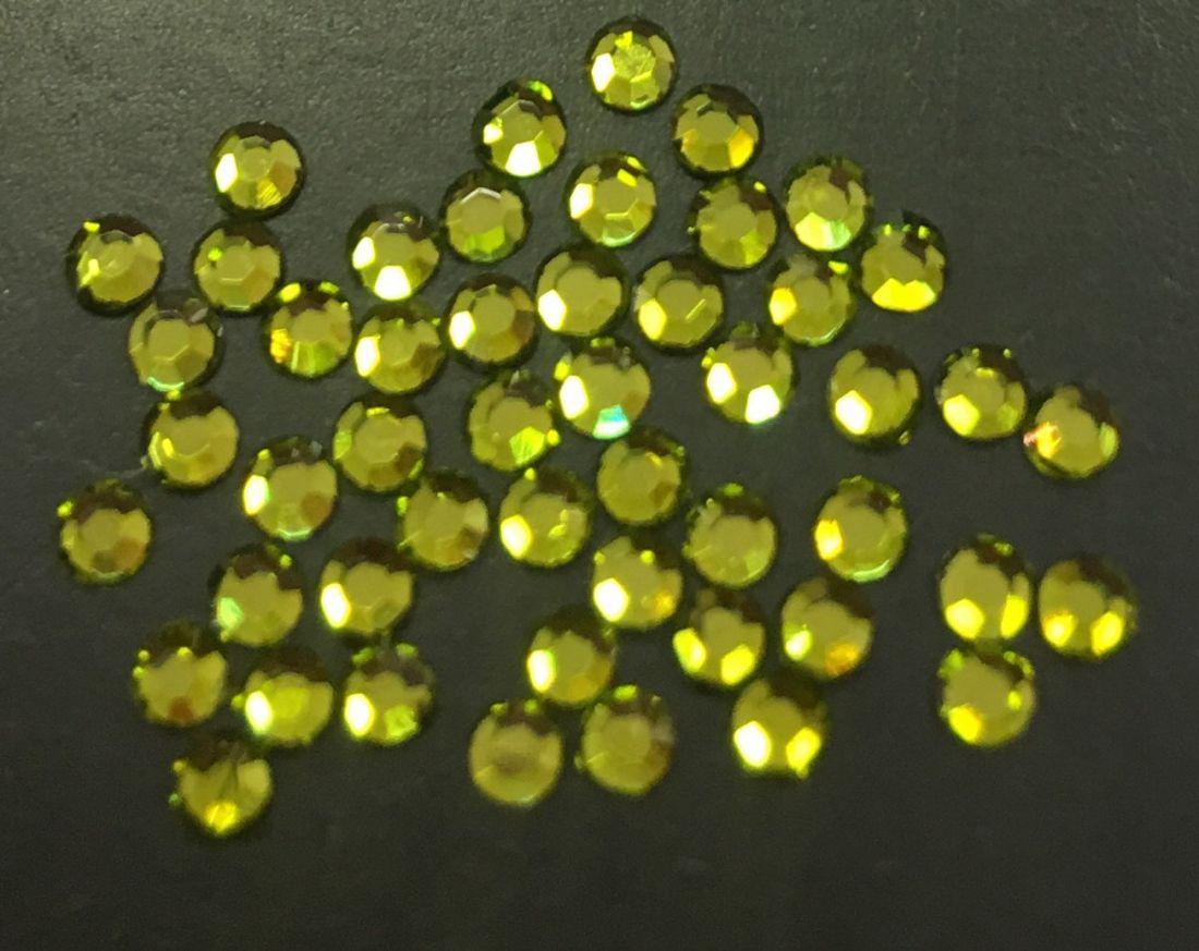 Стразы SS6/2,05 стекло плоские (оливковые 06) уп/50шт