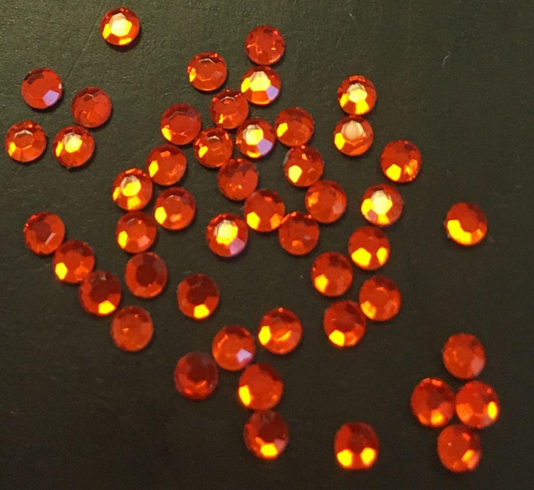 Стразы SS6/2,08м стекло плоские (оранжевые 05) уп/50шт