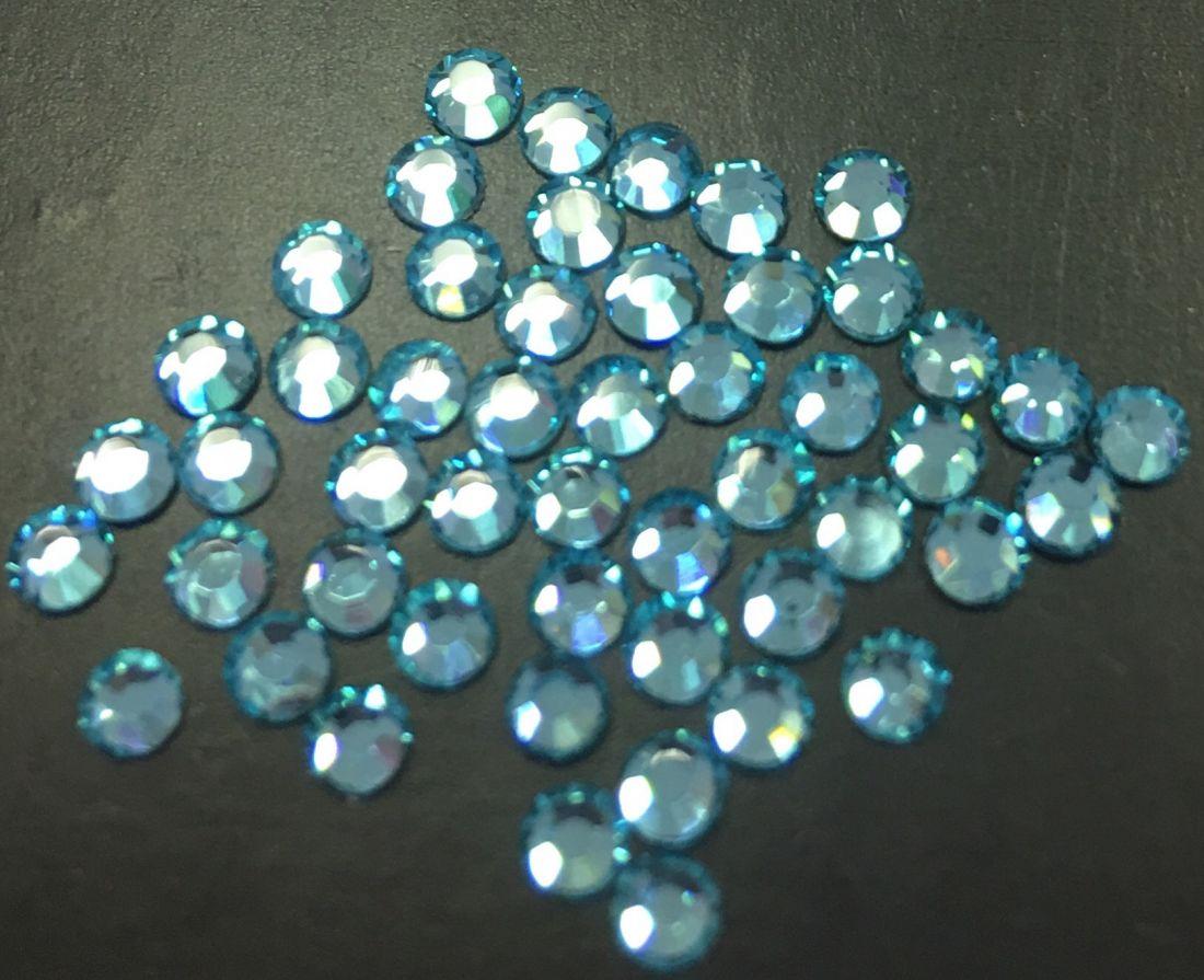 Стразы SS8/2,51мм стекло плоские (бирюзовые 04) уп/50шт