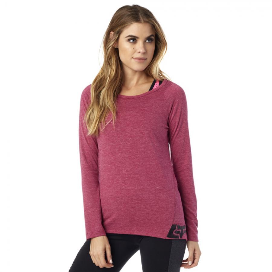 Fox - Certain LS Tee Burgundy футболка женская, красная
