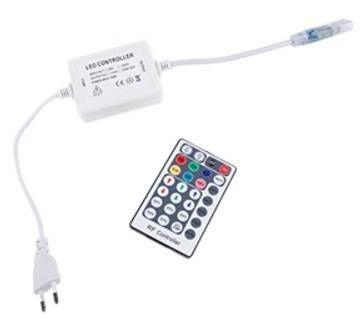 Ecola Контроллер 220V 16x8 600W 2.7A RGB с радиопультом RF1606KSB
