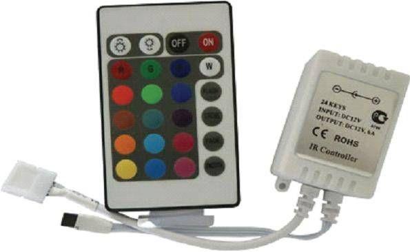 Ecola Контроллер 12V 144W 12A RGB c ИК пультом CRS144ESB