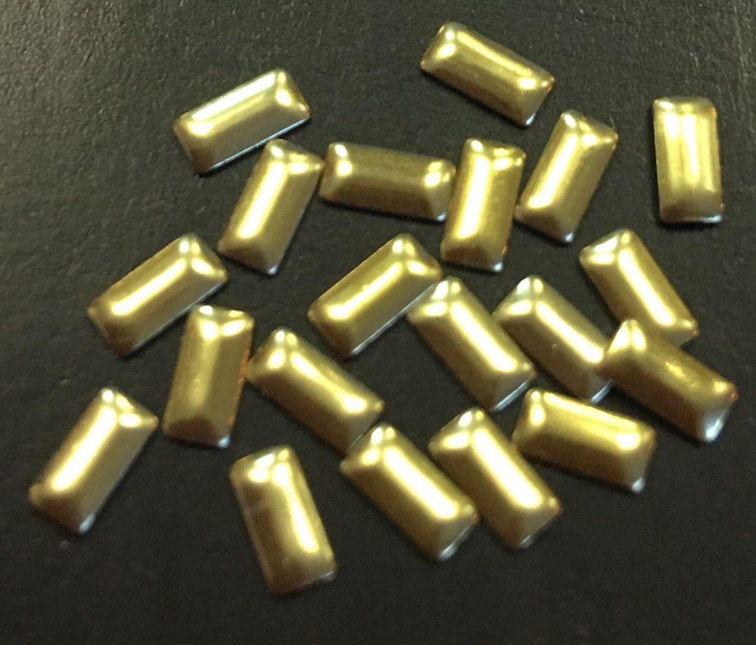 Прямоугольник металлический 4мм*1,5мм (золото) 20шт