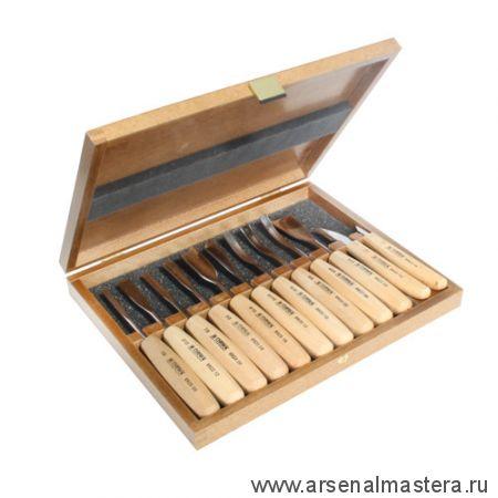 Набор из 12 резцов Standart в деревянной коробке, Narex 8948 50