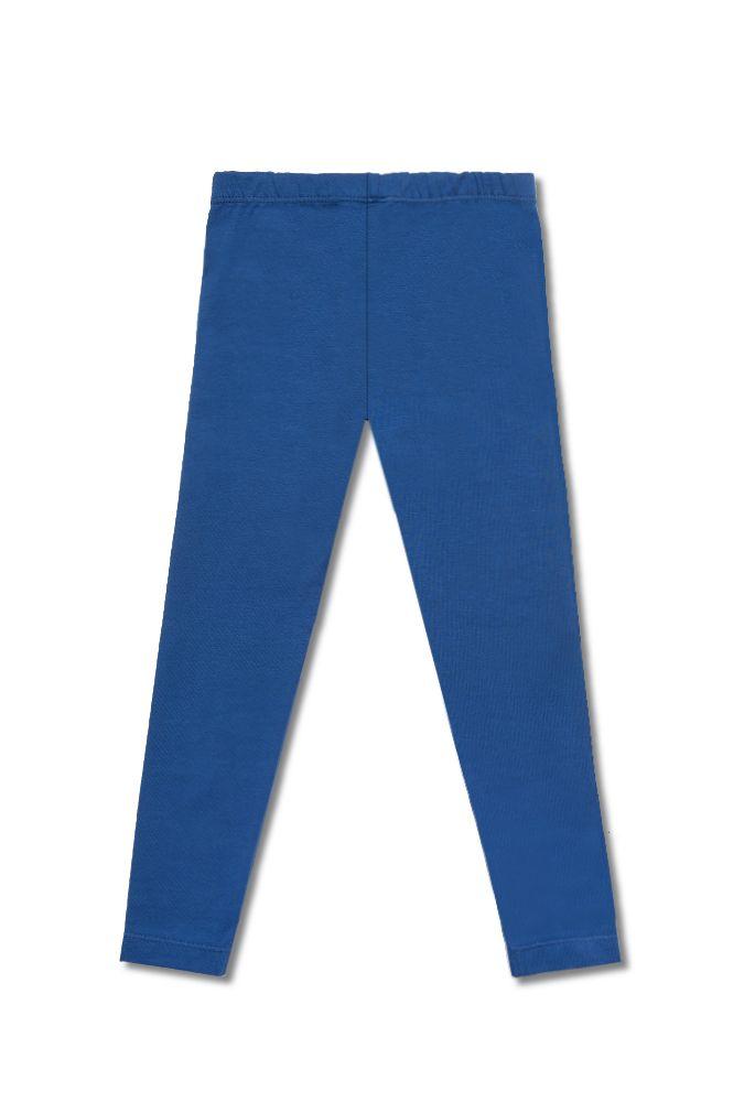 Темно-голубые леггинсы для девочки