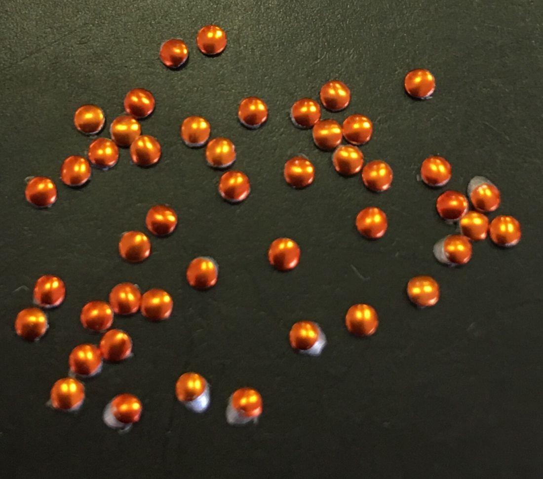 монетки металлические для дизайна 50шт. (медно-оранжевый)