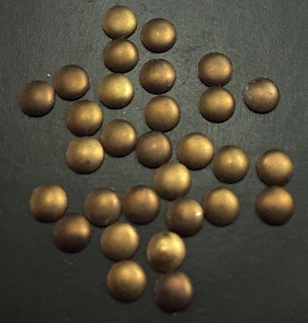 монетки металлические для дизайна d.2,9мм 30шт.(медный)