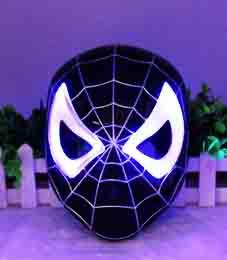 Маска Человека-паука черная (свет.)