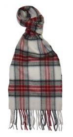 шарф 100% драгоценный кашемир , расцветка  клан Стюартов- парадный вариант