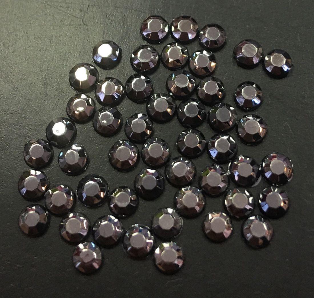 Стразы пластиковые 2,86мм уп/50 шт (графит)