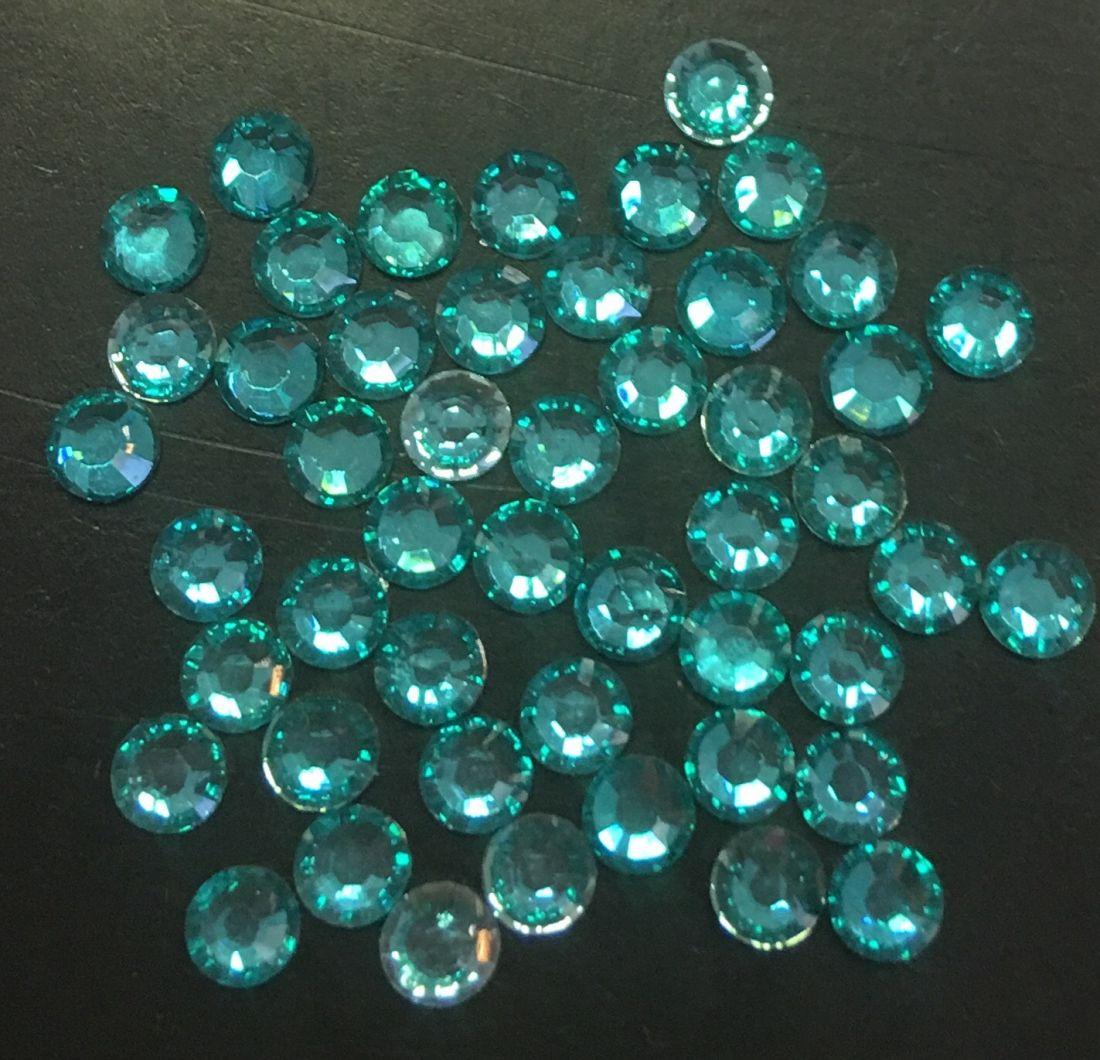 Стразы пластиковые 2,86мм уп/50 шт (Бирюза)
