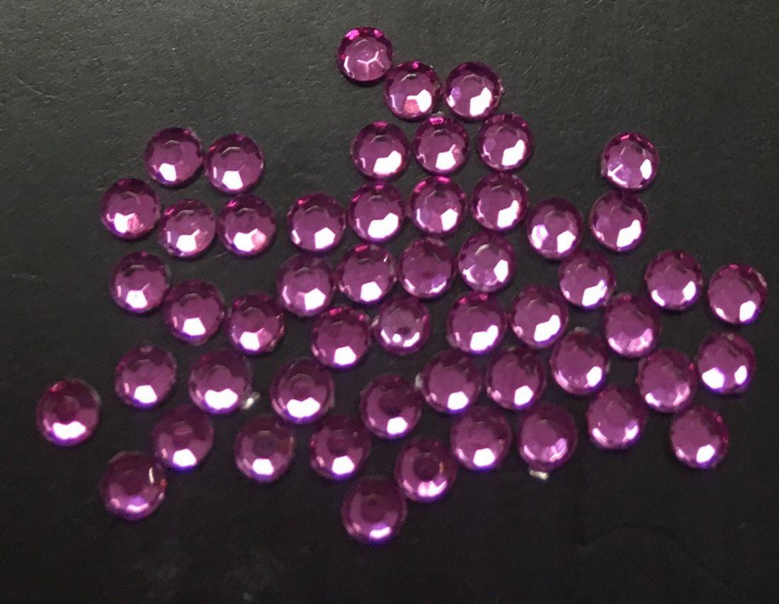 Стразы пластиковые круглые 2,41мм уп/50 шт (pink)