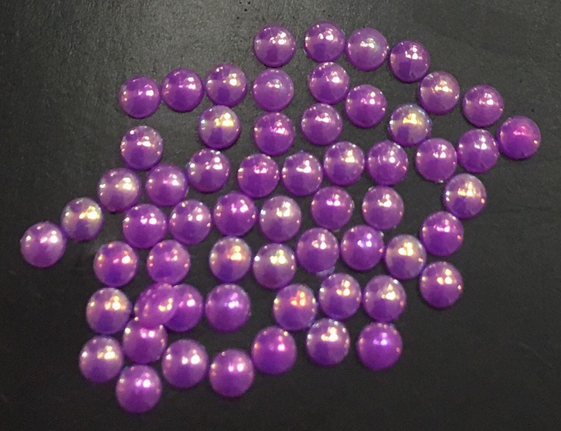 Стразы пластиковые круглые 2,5мм уп/50 шт (фиолетовый)