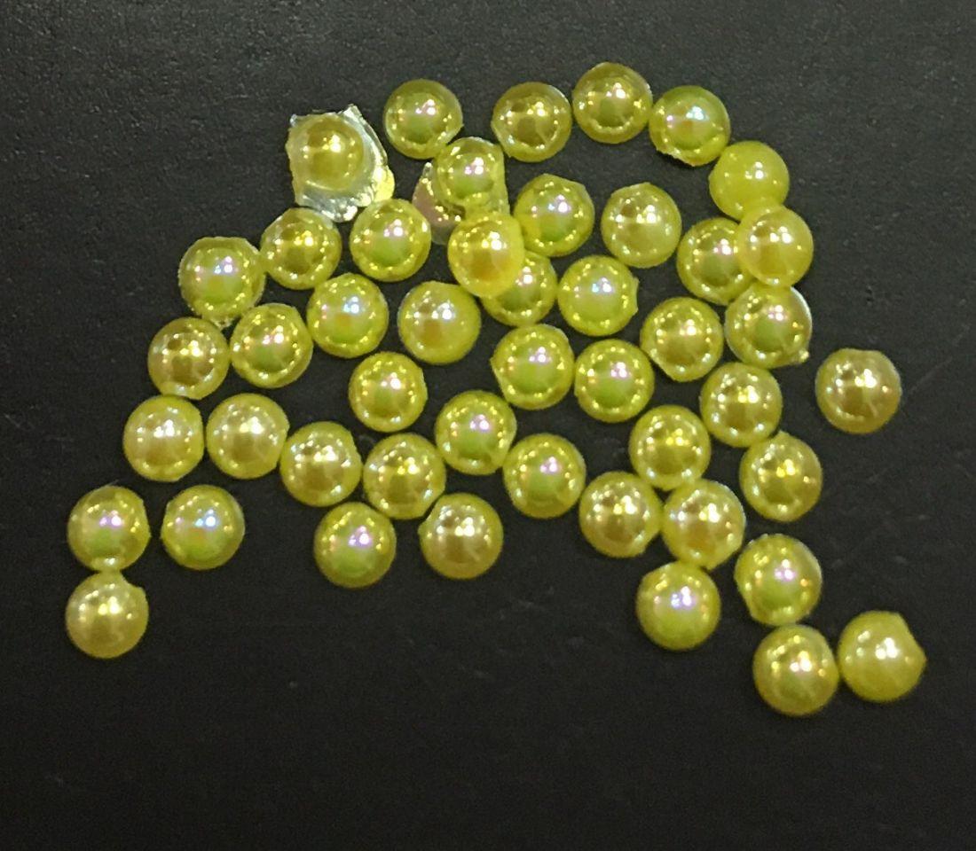 стразы полужемчужины пластиковые d.1.5 (желтый перламутр)