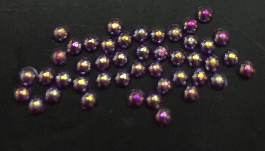 стразы полужемчужины пластиковые d.1.5 (фиолетовый перламутр)