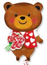 Фигура Медведь с розой (63 см)