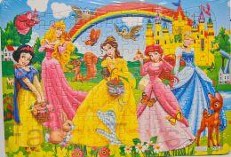 """Болшьшой Пазл""""Принцессы Диснея"""", (130 элементов, размер 53х37 см)"""
