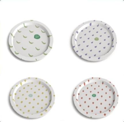 Металлическая тарелка «Healthy Living» (разные дизайны)