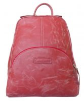 Женский кожаный рюкзак Carlo Gattini Estense red