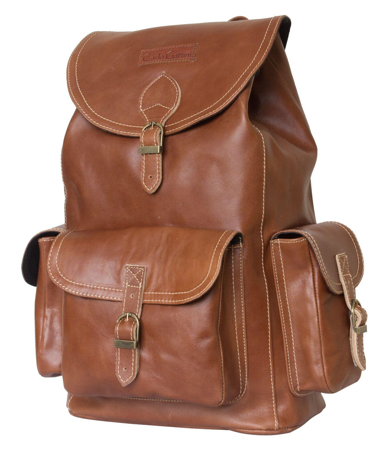 d728e95b9bff Кожаный рюкзак Carlo Gattini Verres cognac