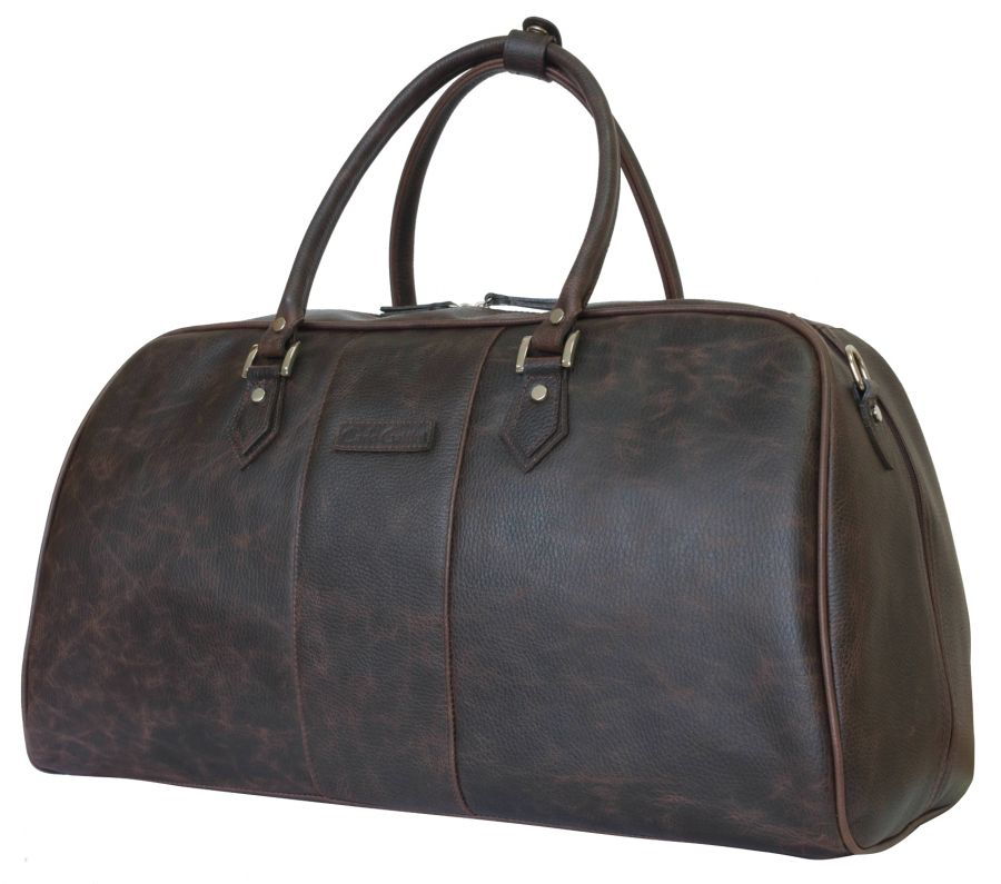 Кожаная дорожная сумка Carlo Gattini Normanno brown