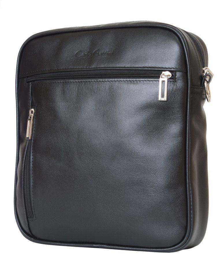 Кожаная мужская сумка Carlo Gattini Varano black