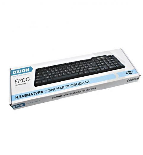 Клавиатура для офисного компьютера проводная Oxion OKB006BK ERGO