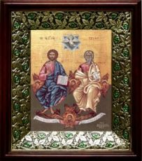 Новозаветная Троица (Сопрестолие), киот со стразами