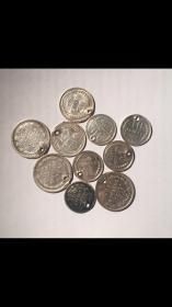 10 серебренных монет РСФСР и империи с подвеса. В блеске.